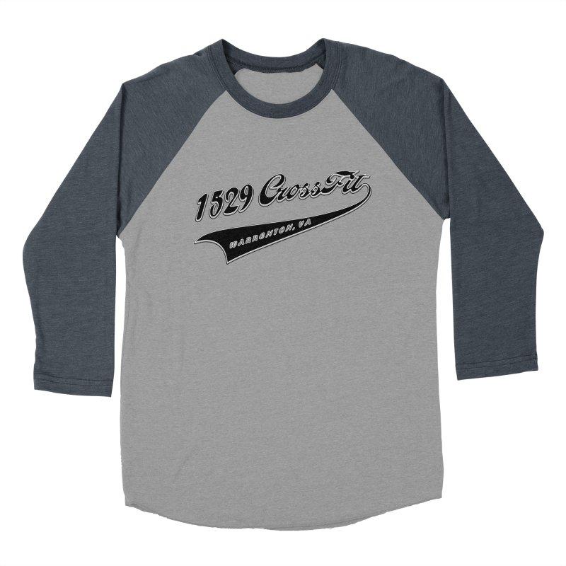 1529 Banner Logo - Black Men's Baseball Triblend Longsleeve T-Shirt by 1529 CrossFit Merch