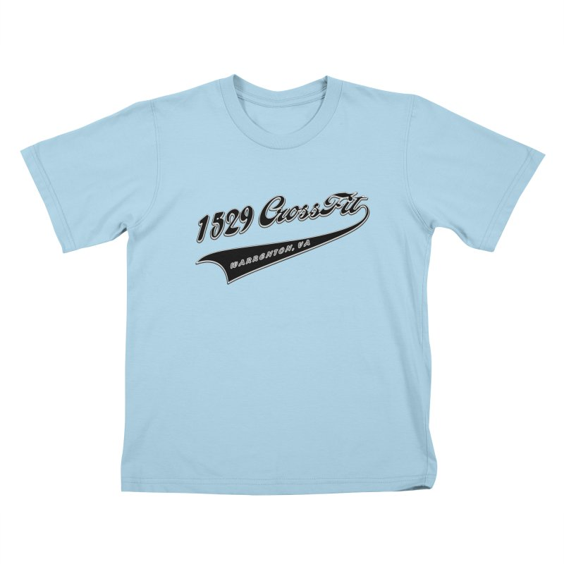1529 Banner Logo - Black Kids T-Shirt by 1529 CrossFit Merch