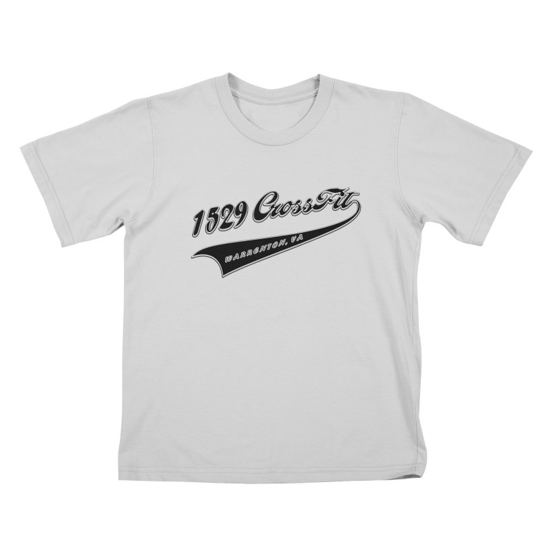 1529 Banner Logo - Black Kids T-Shirt by 1529 CrossFit Merch