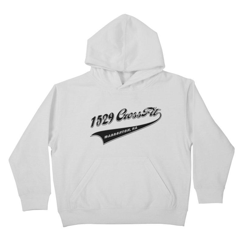 1529 Banner Logo - Black Kids Pullover Hoody by 1529 CrossFit Merch