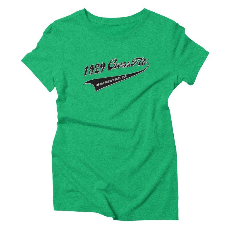 1529 Banner Logo - Black Women's Triblend T-Shirt by 1529 CrossFit Merch