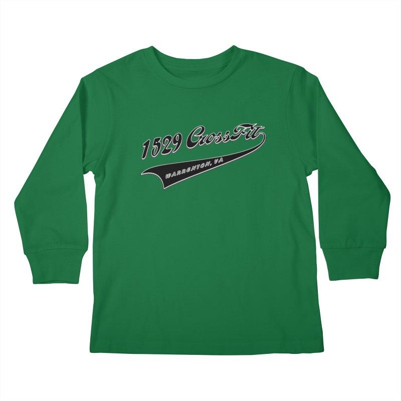 1529 Banner Logo - Black Kids Longsleeve T-Shirt by 1529 CrossFit Merch