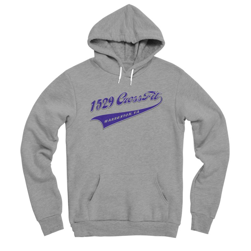 1529 Banner Logo- Blue Men's Sponge Fleece Pullover Hoody by 1529 CrossFit Merch