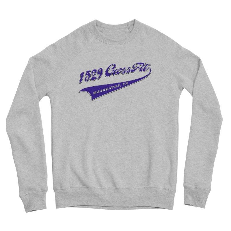 1529 Banner Logo- Blue Men's Sponge Fleece Sweatshirt by 1529 CrossFit Merch