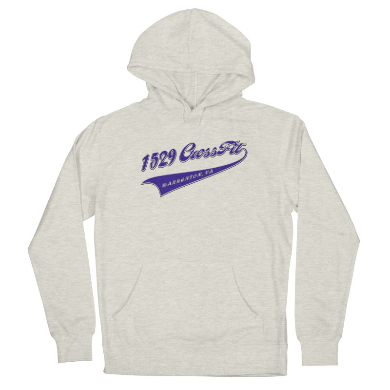 1529 Banner Logo- Blue Men's French Terry Pullover Hoody by 1529 CrossFit Merch