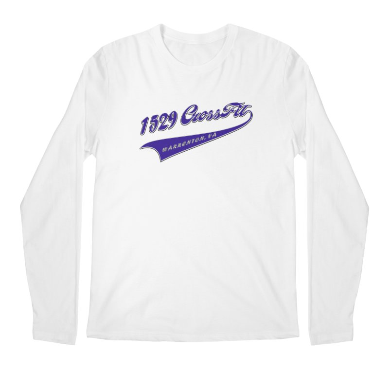 1529 Banner Logo- Blue Men's Regular Longsleeve T-Shirt by 1529 CrossFit Merch