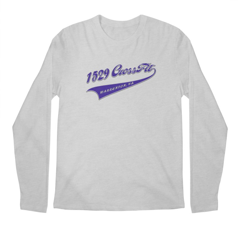 1529 Banner Logo- Blue Men's Regular Longsleeve T-Shirt by 1529 CrossFit Merch