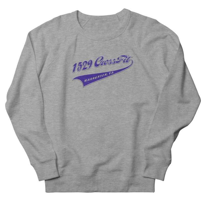 1529 Banner Logo- Blue Men's French Terry Sweatshirt by 1529 CrossFit Merch