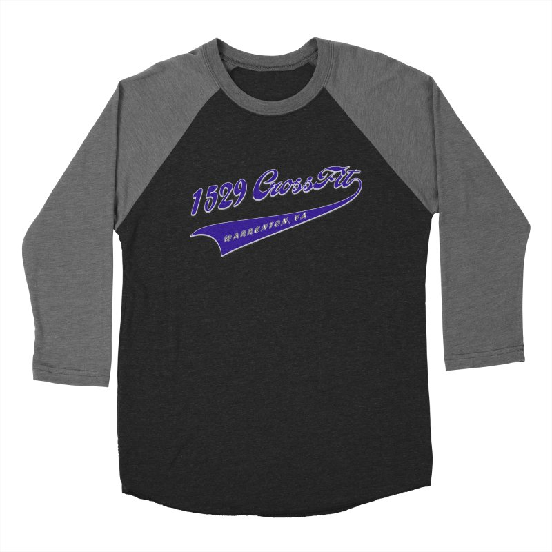 1529 Banner Logo- Blue Women's Baseball Triblend Longsleeve T-Shirt by 1529 CrossFit Merch