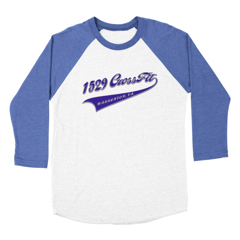 1529 Banner Logo- Blue Men's Baseball Triblend Longsleeve T-Shirt by 1529 CrossFit Merch