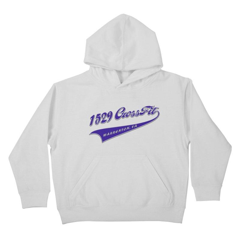 1529 Banner Logo- Blue Kids Pullover Hoody by 1529 CrossFit Merch