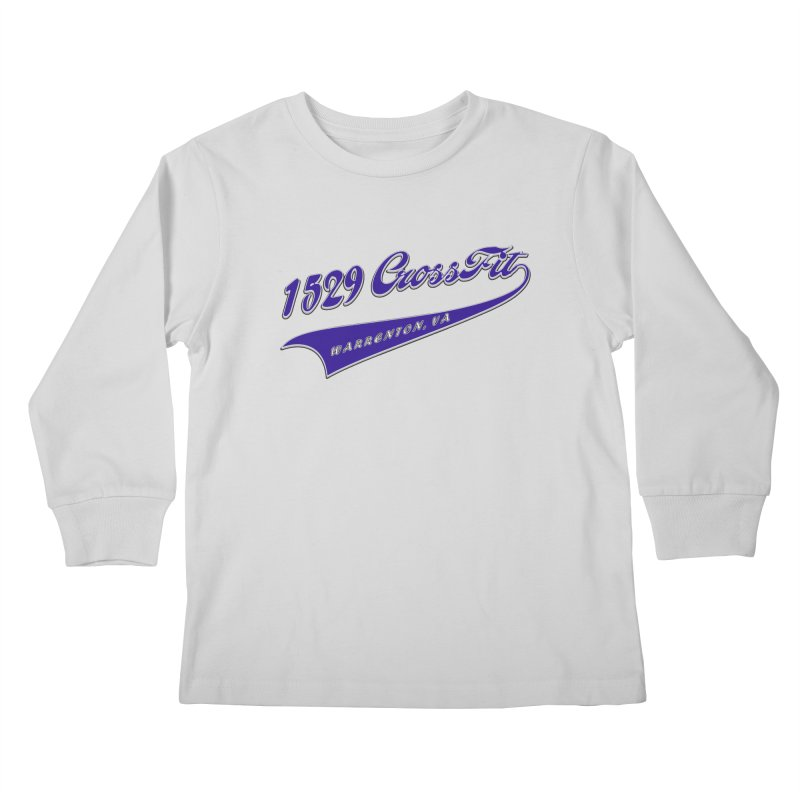 1529 Banner Logo- Blue Kids Longsleeve T-Shirt by 1529 CrossFit Merch