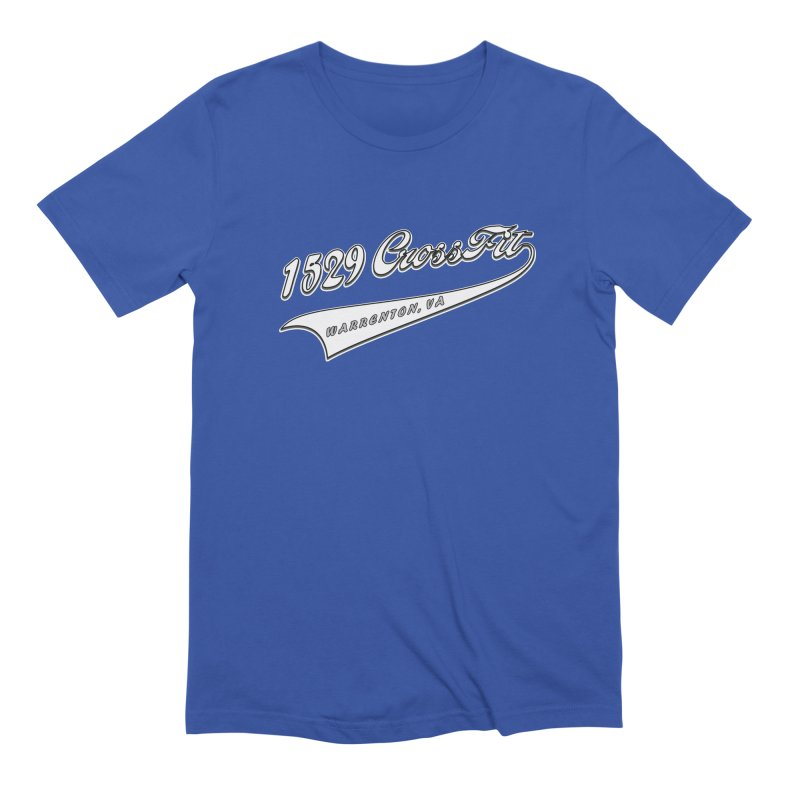 1529 Banner Logo- White Men's Extra Soft T-Shirt by 1529 CrossFit Merch