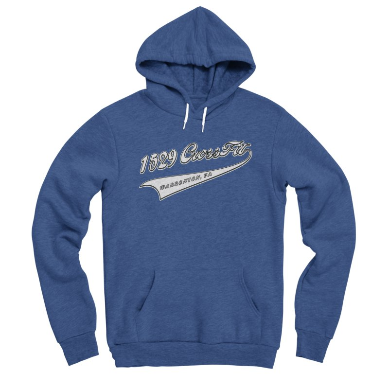 1529 Banner Logo- White Women's Sponge Fleece Pullover Hoody by 1529 CrossFit Merch
