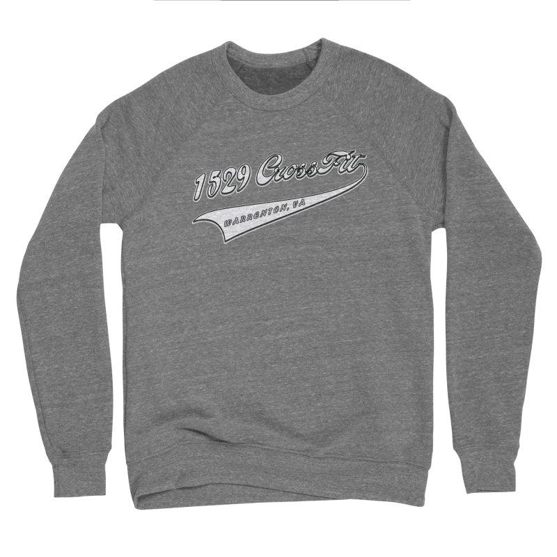 1529 Banner Logo- White Men's Sponge Fleece Sweatshirt by 1529 CrossFit Merch