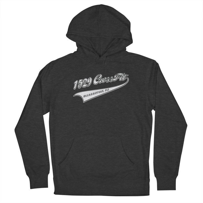 1529 Banner Logo- White Men's French Terry Pullover Hoody by 1529 CrossFit Merch