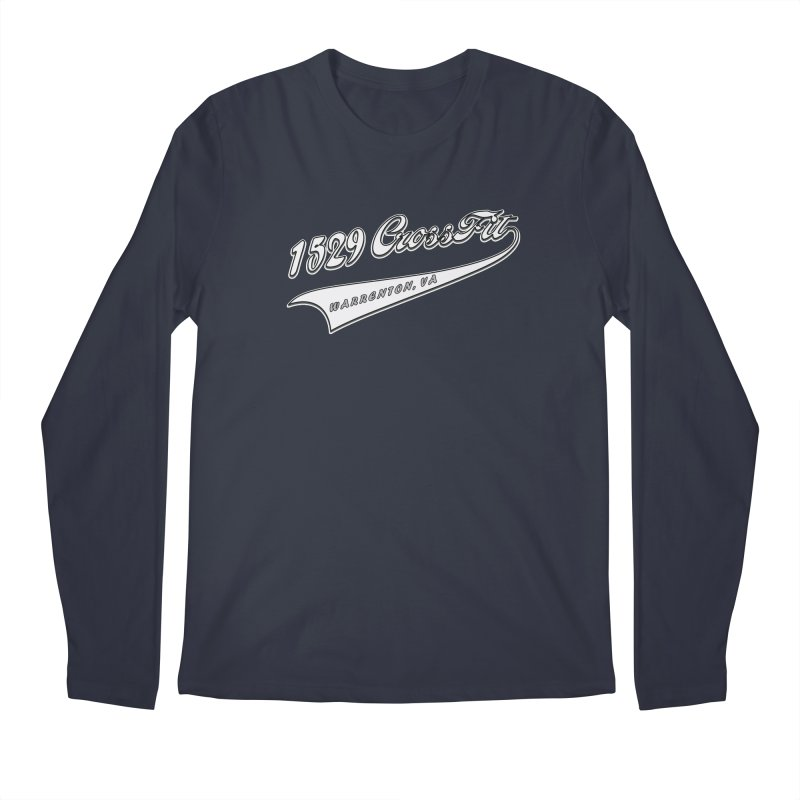 1529 Banner Logo- White Men's Regular Longsleeve T-Shirt by 1529 CrossFit Merch