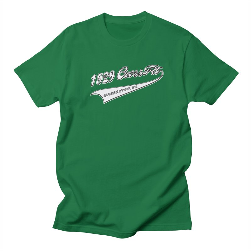 1529 Banner Logo- White Men's T-Shirt by 1529 CrossFit Merch