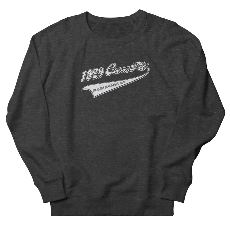 1529 Banner Logo- White Men's French Terry Sweatshirt by 1529 CrossFit Merch