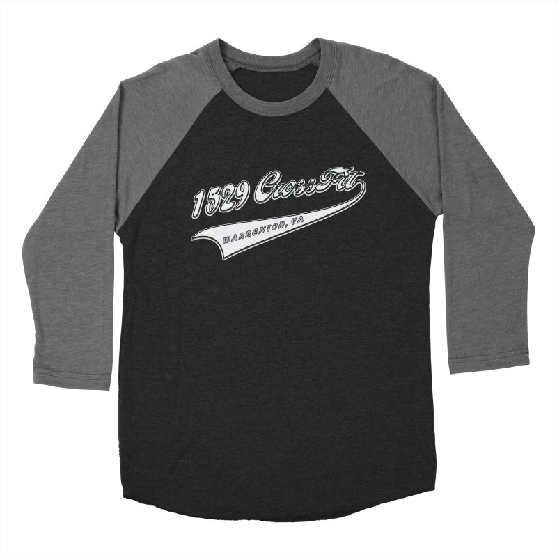 1529 Banner Logo- White Women's Baseball Triblend Longsleeve T-Shirt by 1529 CrossFit Merch
