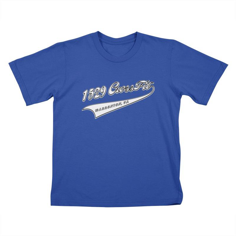 1529 Banner Logo- White Kids T-Shirt by 1529 CrossFit Merch