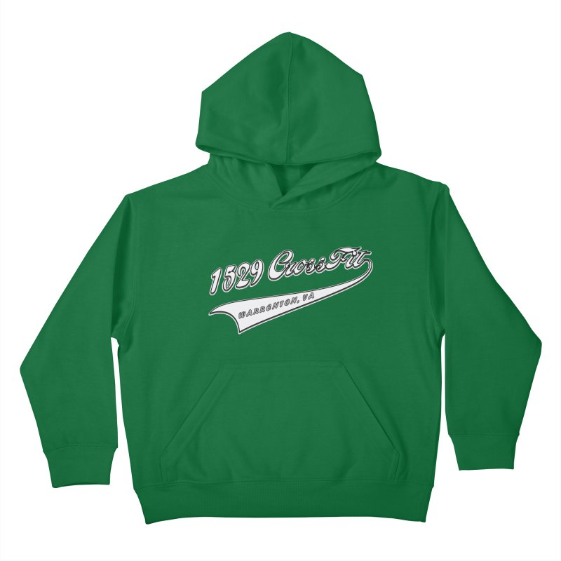 1529 Banner Logo- White Kids Pullover Hoody by 1529 CrossFit Merch