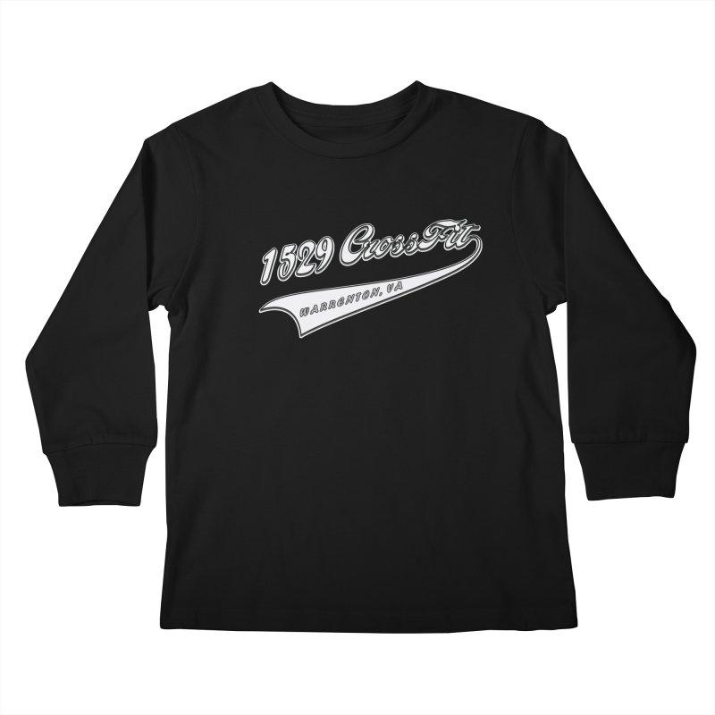 1529 Banner Logo- White Kids Longsleeve T-Shirt by 1529 CrossFit Merch