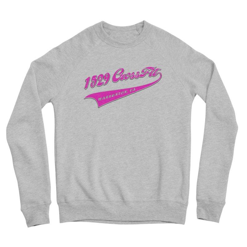 1529 Banner -Pink Men's Sponge Fleece Sweatshirt by 1529 CrossFit Merch