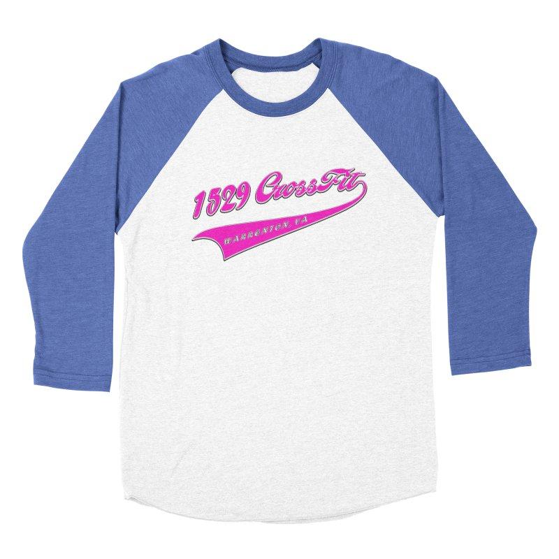 1529 Banner -Pink Women's Baseball Triblend Longsleeve T-Shirt by 1529 CrossFit Merch