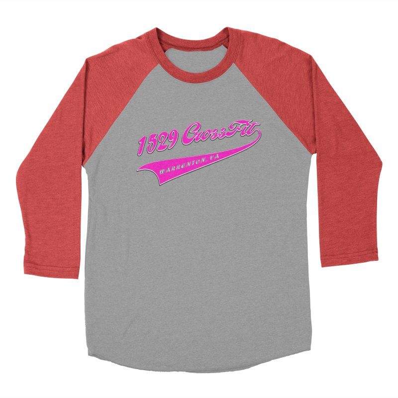 1529 Banner -Pink Women's Baseball Triblend Longsleeve T-Shirt by 1529 CrossFit Merch