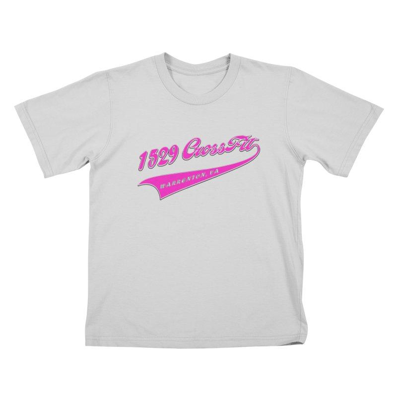 1529 Banner -Pink Kids T-Shirt by 1529 CrossFit Merch