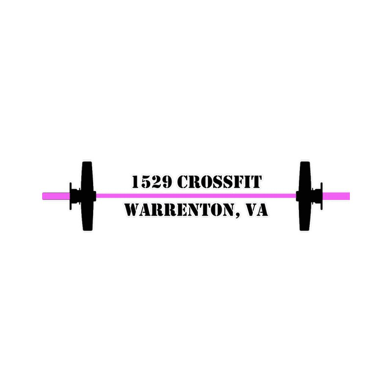 Pink Barbell Logo Women's Tank by 1529 CrossFit Merch