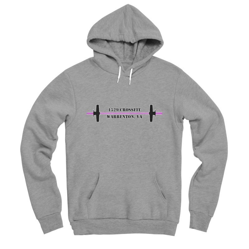 Pink Barbell Logo Women's Sponge Fleece Pullover Hoody by 1529 CrossFit Merch