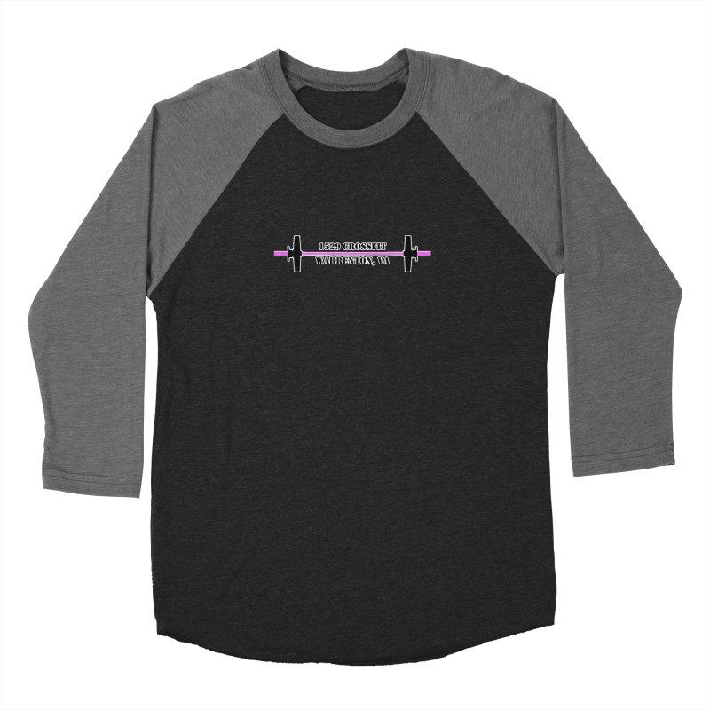 Pink Barbell Logo Women's Longsleeve T-Shirt by 1529 CrossFit Merch