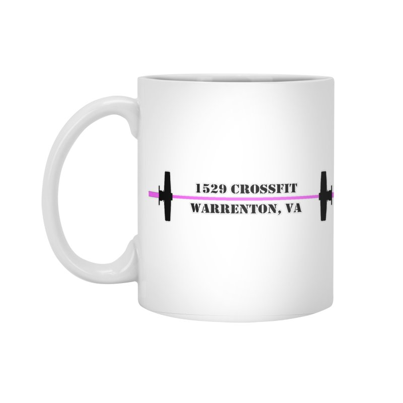 Pink Barbell Logo Accessories Mug by 1529 CrossFit Merch
