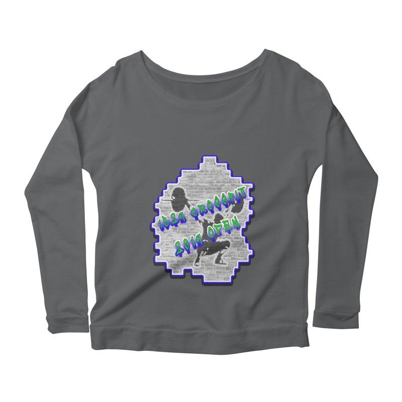 Open 2019 Women's Scoop Neck Longsleeve T-Shirt by 1529 CrossFit Merch