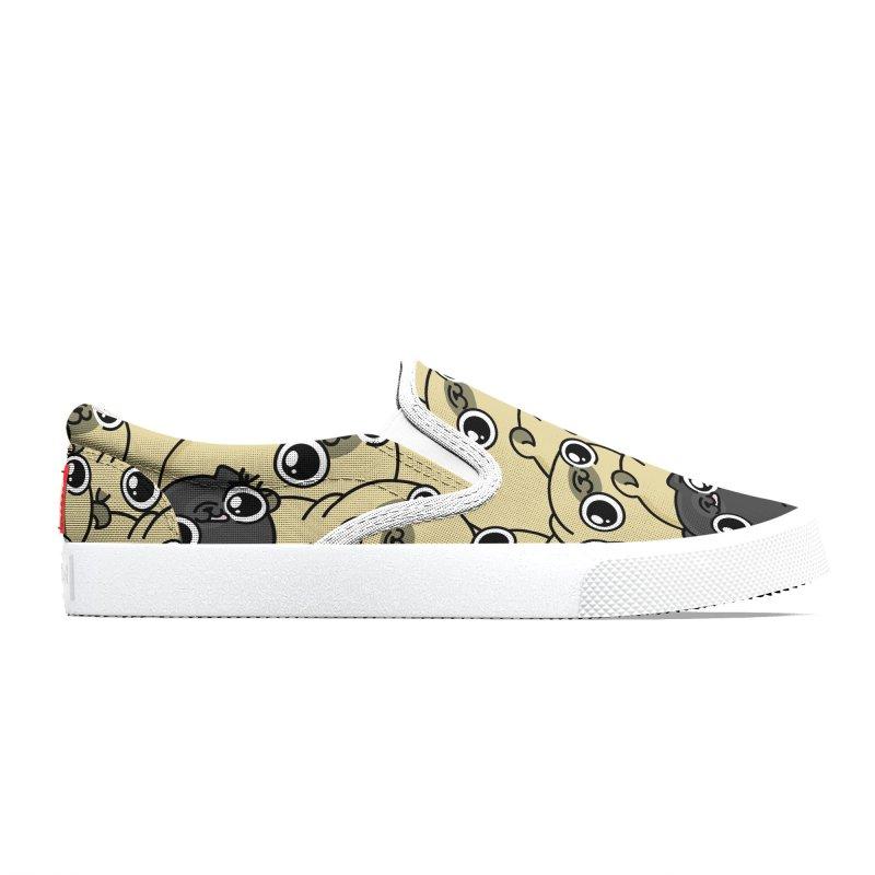 Pug pattern Women's Shoes by 157ofgemma