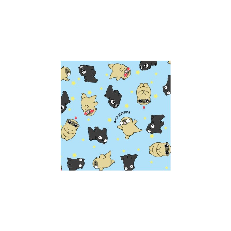 Black pug and fawn pug pattern Accessories Bag by 157ofgemma