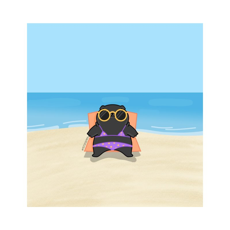 Violet the black pug sunbathing Accessories Phone Case by 157ofgemma