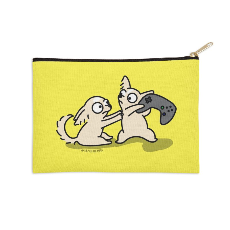The Twinchis playing a video game Accessories Zip Pouch by 157ofgemma