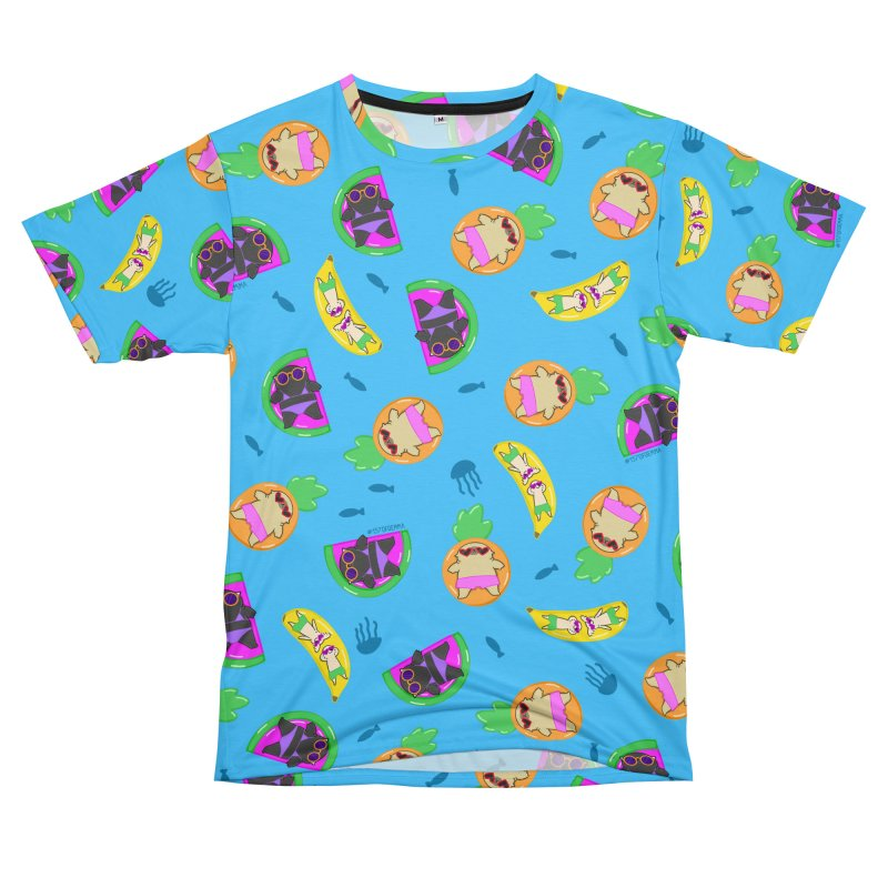 Mochi the pug and friends in the ocean Men's Cut & Sew by 157ofgemma