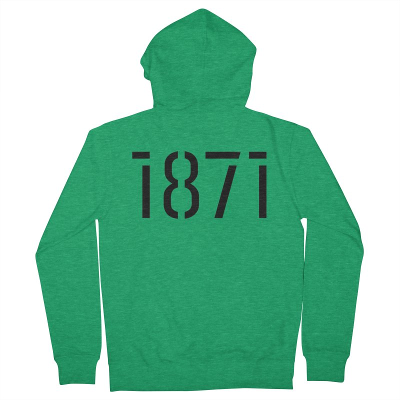 The Stencil Men's French Terry Zip-Up Hoody by 1871's Shop