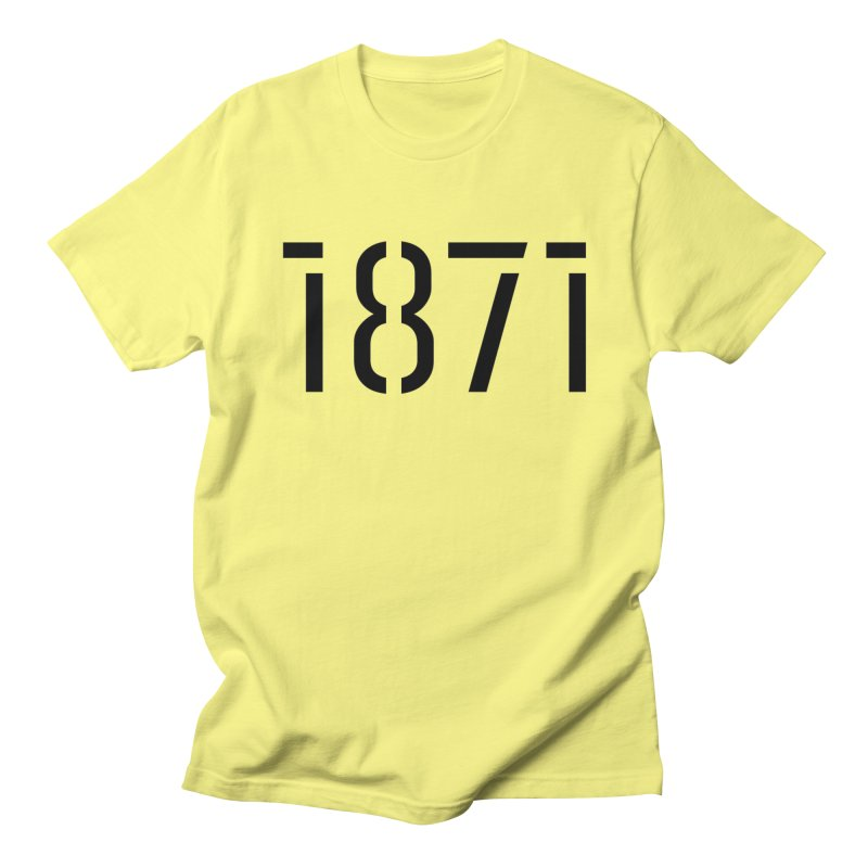 The Stencil in Men's Regular T-Shirt Lemon by 1871's Shop