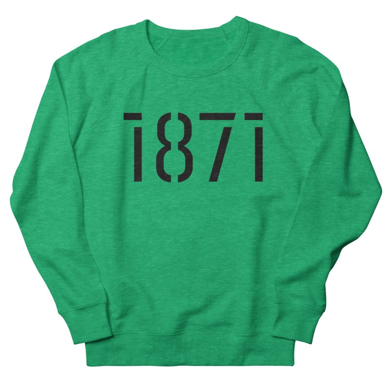 The Stencil Men's French Terry Sweatshirt by 1871's Shop