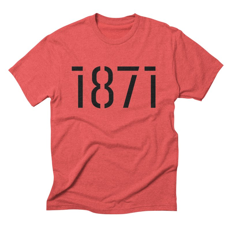 The Stencil Men's Triblend T-Shirt by 1871's Shop