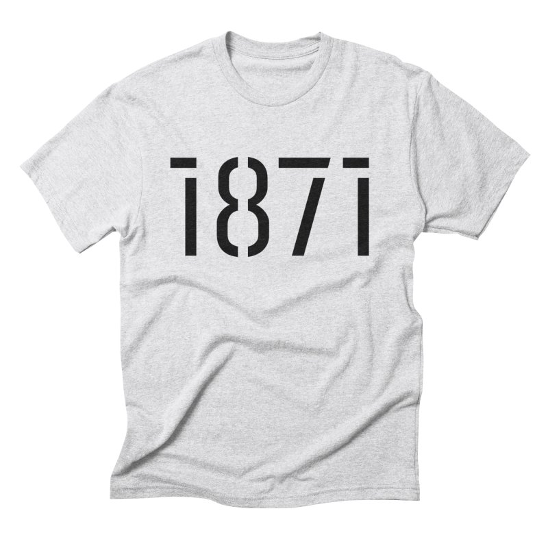 The Stencil Men's Triblend T-Shirt by 1871's Shop