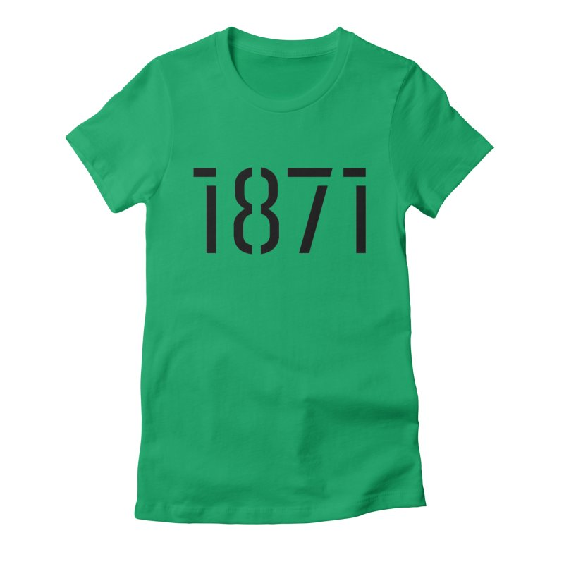 The Stencil Women's Fitted T-Shirt by 1871's Shop