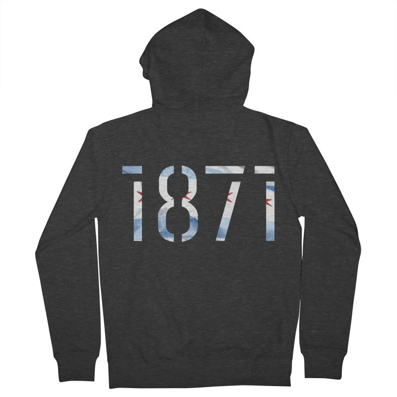 Chicagoness Women's French Terry Zip-Up Hoody by 1871's Shop