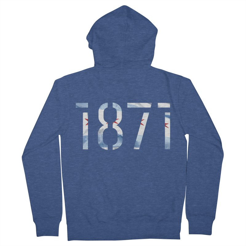 Chicagoness Men's Zip-Up Hoody by 1871's Shop