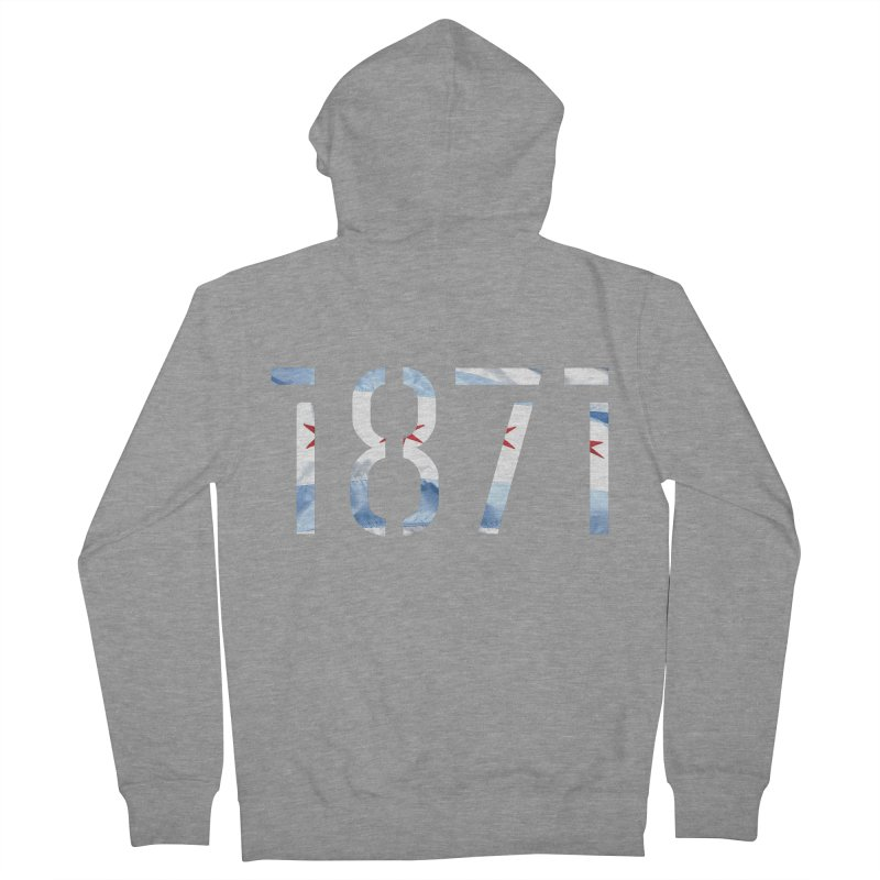 Chicagoness Men's French Terry Zip-Up Hoody by 1871's Shop